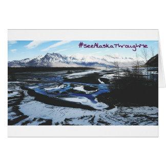 Frozen Knik River Card