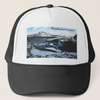 Frozen Knik River Trucker Hat