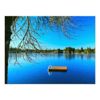 Frozen Lake at Noon Art Photo