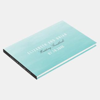 Frozen Lake Ombre Wedding Guestbook