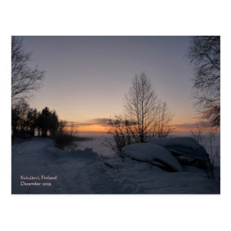 Frozen Lake Postcard