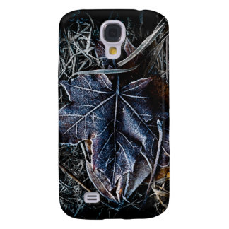 Frozen Leaf and Grass Galaxy S4 Cover