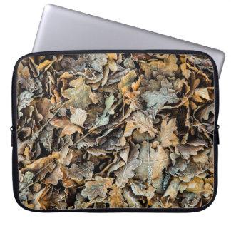 Frozen leaves laptop sleeve