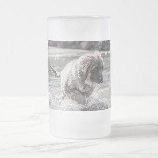 Frozen Leonberger Frosted Glass Beer Mug