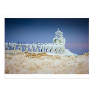 Frozen Lighthouse Postcard