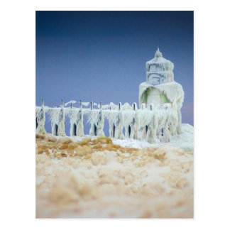Frozen Lighthouse Postcard