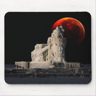 Frozen Lighthouse wit Eclipse Mouse Pad