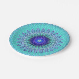 Frozen mandala paper plate