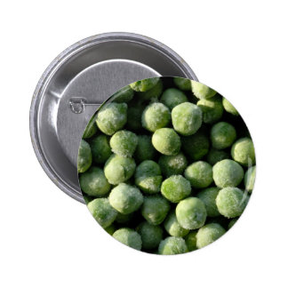 Frozen peas 6 cm round badge