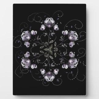 Frozen Peony Pattern Plaque