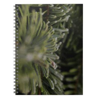 Frozen Pine Tree Notebook