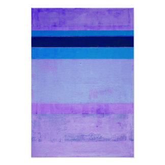 'Frozen' Purple and Blue Abstract Artwork Poster