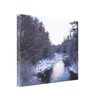 Frozen River of Snow Canvas Print