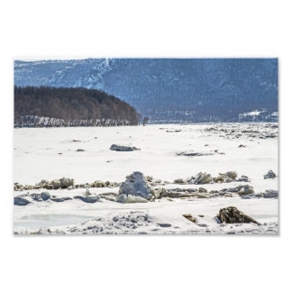 Frozen River Photographic Print