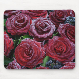Frozen Roses Mouse Pad