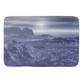 Frozen Sea of Neptune Bath Mats