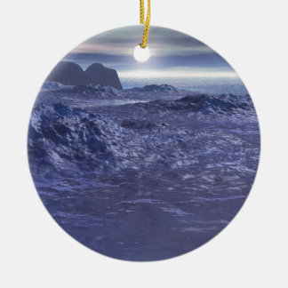 Frozen Sea of Neptune Ceramic Ornament