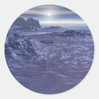 Frozen Sea of Neptune Classic Round Sticker