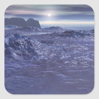 Frozen Sea of Neptune Square Sticker