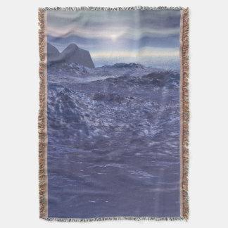Frozen Sea of Neptune Throw Blanket