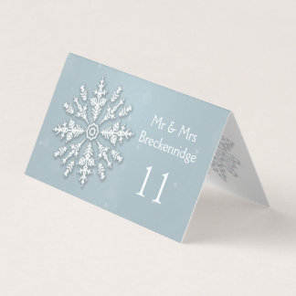 Frozen snowflake Wedding Table number, Place card