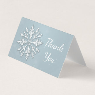 Frozen snowflake winter Christmas Thank You Card