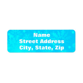 Frozen Snowflakes Return Address Label