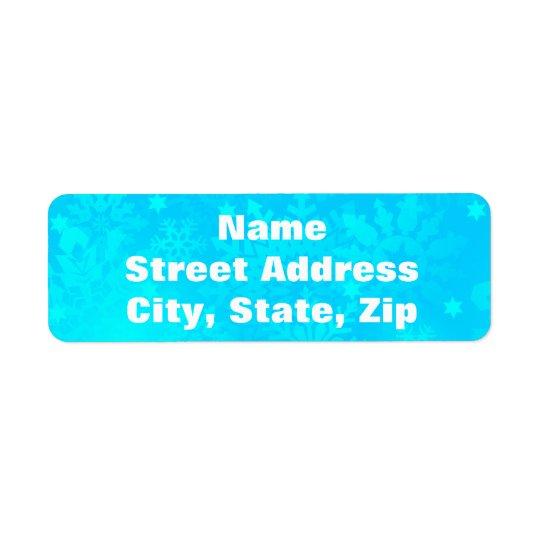 Frozen Snowflakes Return Address Label