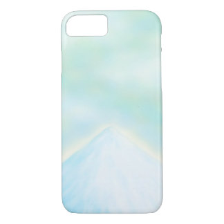 Frozen Snowy Mountain - Light Blue Sky iPhone Case