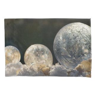 Frozen Soap Bubbles Ice Crystal Winter Pillowcover Pillowcase