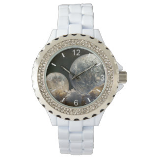 Frozen Soap Bubbles Ice Crystal - women dial-plate Watch