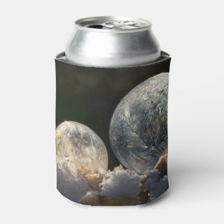 Frozen Soap Bubbles Ice Winter Photo  Funny Bawdle Can Cooler