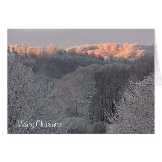 Frozen sunrise merry Christmas Card