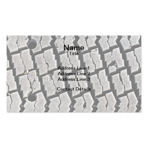 Frozen Tyre Abstract Business Cards