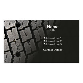 Frozen Tyre Abstract Pack Of Standard Business Cards