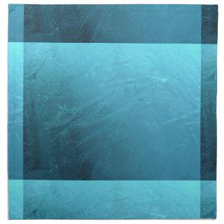 Frozen Water Ice Blue Frost Chic Winter Metallic Cloth Napkins