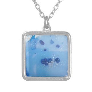 frozen water silver plated necklace