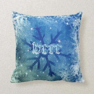 Frozen Watercolor Snowflake - brrr Cushion