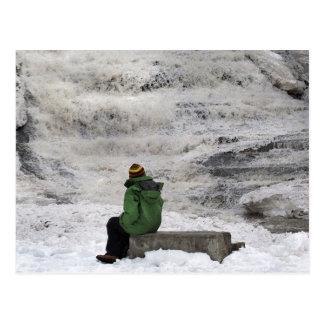 Frozen Waterfall Buttermilk Falls Postcard