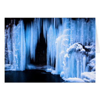 Frozen Waterfall Card
