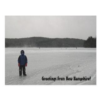 Frozen Winter Lake, Photography Postcard