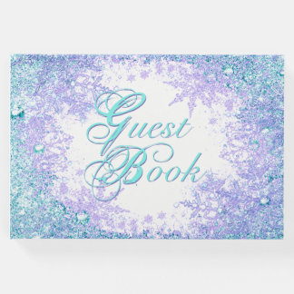 Frozen Winter Wonderland Birthday Party Guest Book