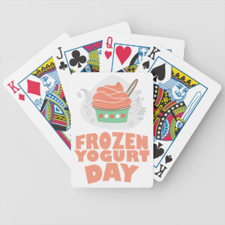 Frozen Yogurt Day - Appreciation Day Bicycle Playing Cards