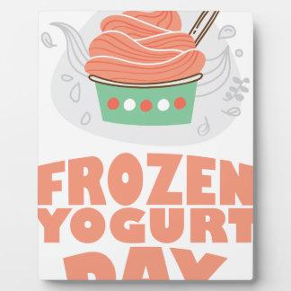 Frozen Yogurt Day - Appreciation Day Plaque
