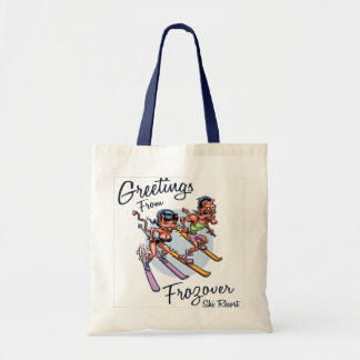 Frozover Ski Resort Tote Bag