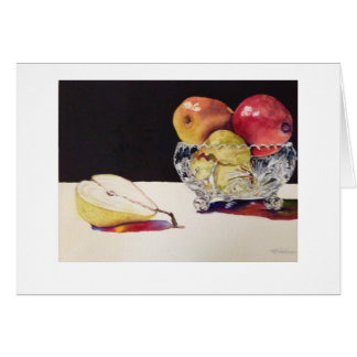 fruit and Crystal card by Mary Dunham Walters