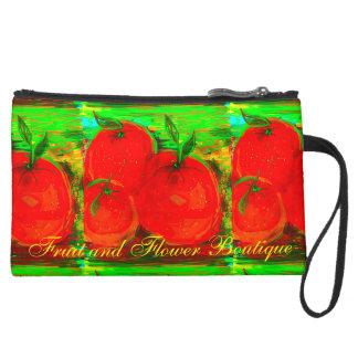 """Fruit and Flower Boutique"" Design Wristlet Clutch"