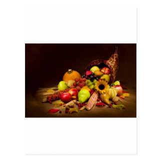 fruit and gourd cornucopia postcard
