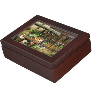 Fruit and Veg Colorful English Village Store Memory Box