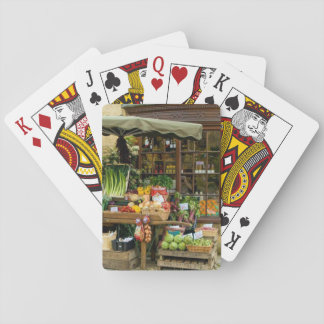 Fruit and Veg Colorful English Village Store Playing Cards